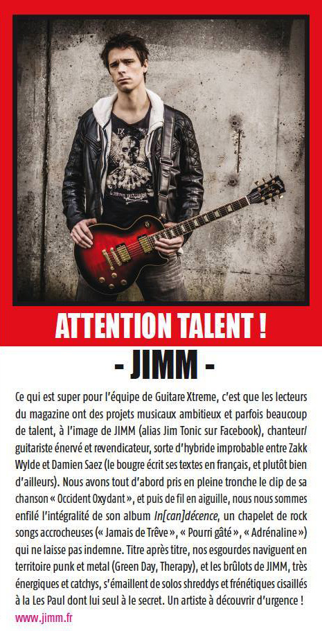 JIMM guitare xtreme